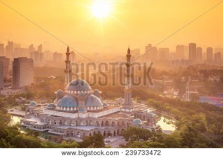 Mosque In Kuala Lumpur With
