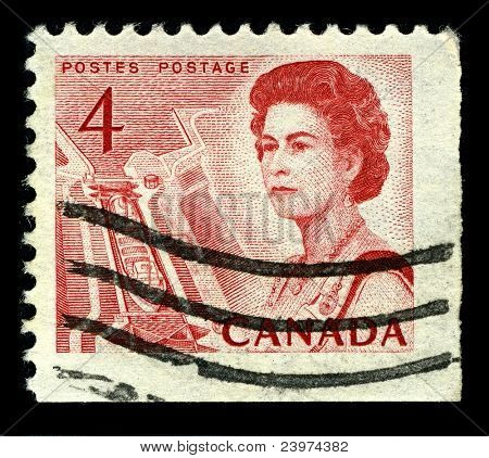 CANADA-CIRCA 1967:A stamp printed in CANADA shows image of The Saint Lawrence Seaway (St. Lawrence Seaway), is the common name for a system of locks, canals, circa 1967.