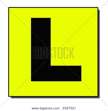 L  Plate With Shadow
