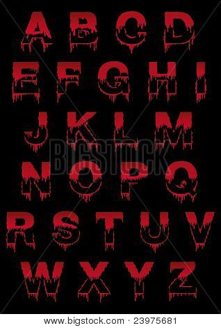 Dripped-font