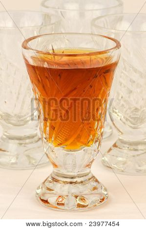 A glass of drink