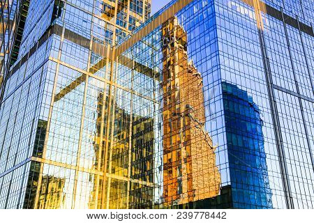 Skyscraper Exterior Mirror Reflection In