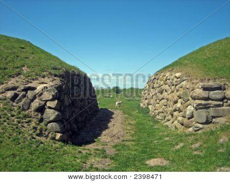 Old Viking Gate Ruins In Denmark