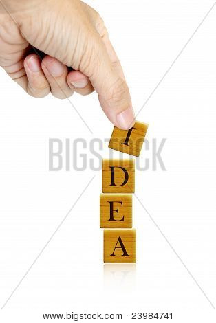 Hand And Word Idea Word