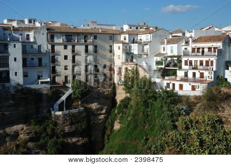 Houses At The Abyss In Ronda