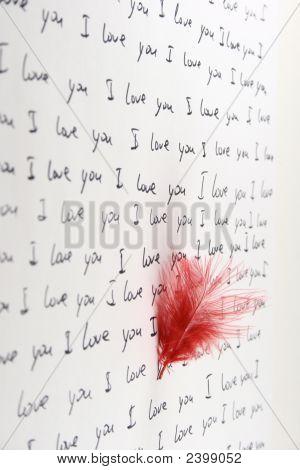 Pena e Vertical de letra manuscrita de amor