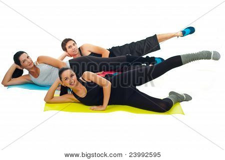 Healthy Group Of People Doing Gym