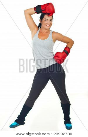 Happy Boxer Woman