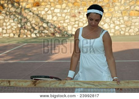 Disappointed Tennis Player Woman