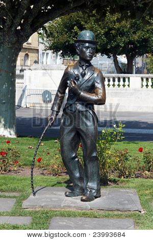A Monument of Charlie Chaplin ,Vevey, Switzerland
