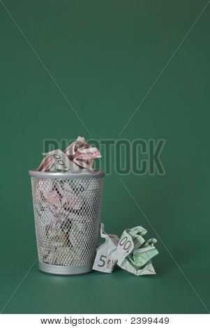 Wasted Money - Euro Bills