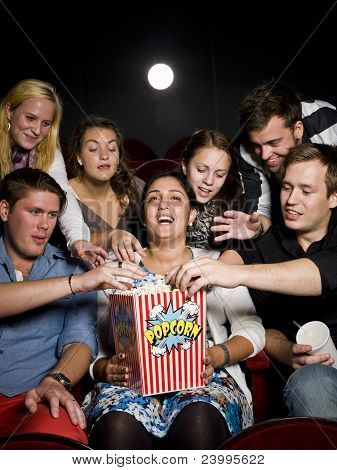 People Eating Popcorn