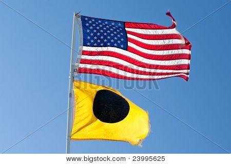 American Flag At The Beach