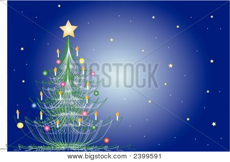 Stylized Decorated Christmas Tree
