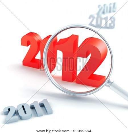 new 2012 year under magnification and other years