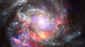 Nebula And Galaxy In Space. Elements Of This Image Furnished By Nasa. poster
