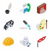 Scientific Direction Icons Set. Isometric Set Of 9 Scientific Direction Vector Icons For Web Isolate poster
