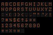 Led Digital Alphabet. Electronic Number And Alphabet Digital Display, Letters And Symbols. Digital T poster