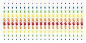 Joker Icon Rainbow Colored Halftone Pattern. Vector Shapes Organized Into Halftone Matrix With Verti poster