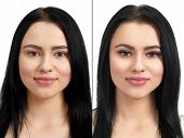Photo Comparison Of Normal And Enlarged Lashes. Take The Difference Between Lashes Before Extension  poster