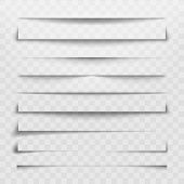 Separator Line Or Shadow Divider For Web Page. Horizontal Dividers, Shadows Dividing Lines And Corne poster
