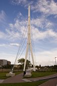 image of bobbies  - A new footbridge across the River Orwell in Ipswich - JPG
