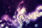 picture of rave  - Violin key music note symbol - JPG