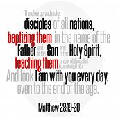 Therefore Go, And Make Disciples Of All Nations, Baptizing Them In The Name Of The Father And Of The poster