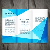 Modern Trifold Brochure Template Vector Design Illustration poster