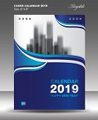 Cover Calendar 2019 Year Size 6X8 Inch Vertical Vector-5 poster