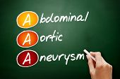 Aaa - Abdominal Aortic Aneurysm Acronym, Concept On Blackboard poster