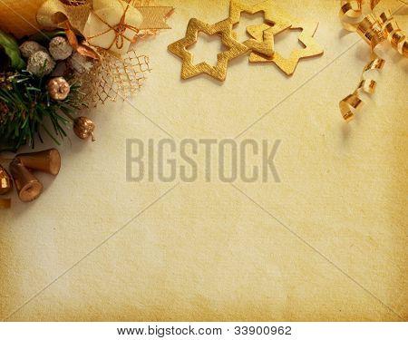 Decoración de la Navidad. Fondo vintage con espacio para texto o imagen. texturas de papel.