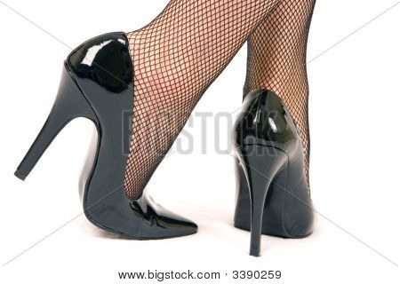 High Heel Shoes And Stockings