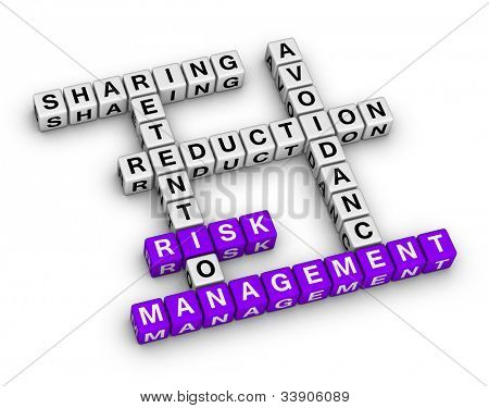 risk management crossword (new business concept)