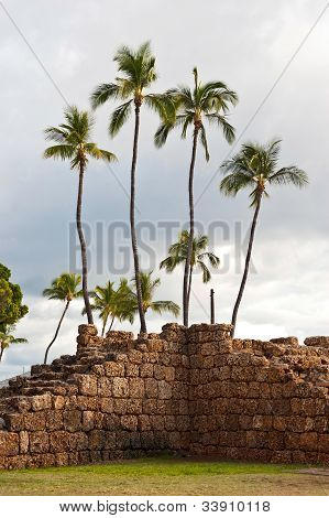Lahaina, Old Fort Wall