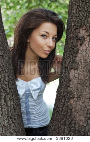 Beautiful Young Woman Outdoors