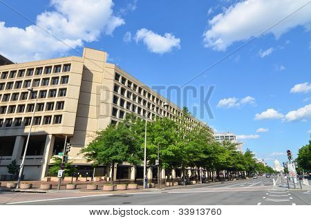 Washington DC - edificio de FBI J. Edgar Hoover en Pennsylvania Street