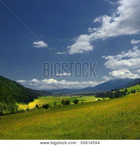 Romanian pastoral landscape