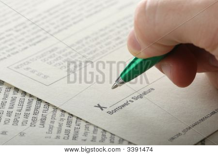 Preparing To Sign Legal Document