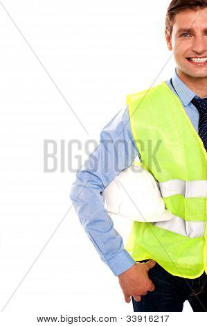 Cropped Image Of A Male Builder
