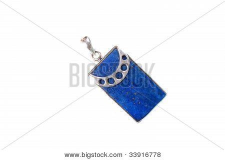 Colgante labradorita azul