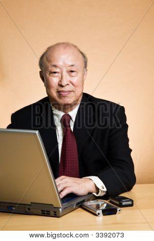 Working Mature Businessman