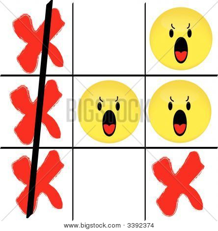 Smiley Face Tic Tac Toe Game.