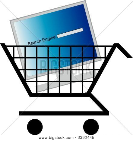Shopping Cart With Computer Search Engine.