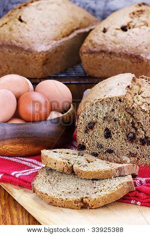 Pan de calabacín fresco