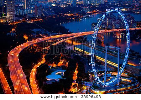 Aerial view on Singapore