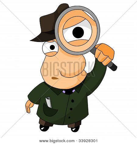 detective with magnifying glass