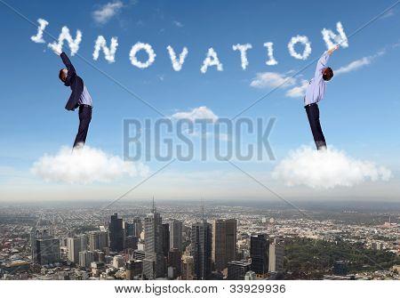 Collage sobre el tema de negocios