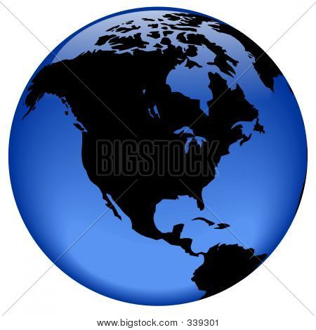 Globe View - North America