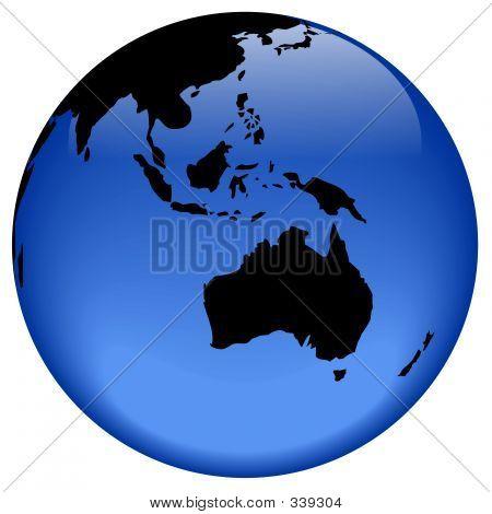 Globo vista - Australia Nad Oceanía